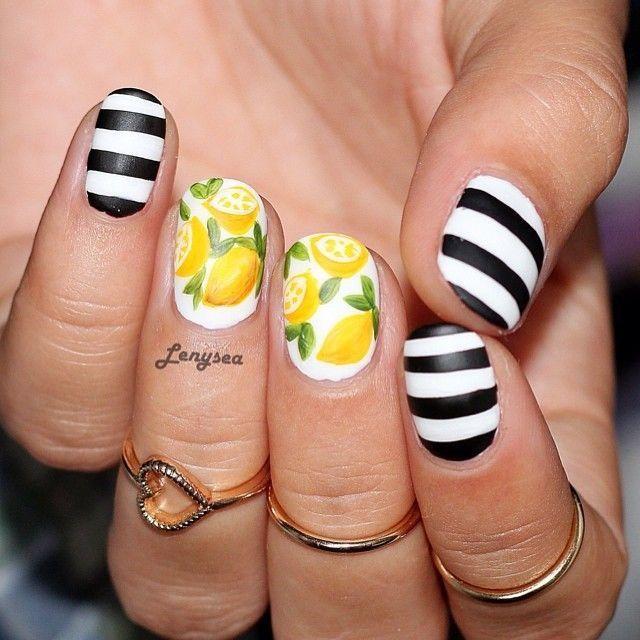 Lemon Nails Lemon Nails Fruit Nail Art Fruit Nail Designs