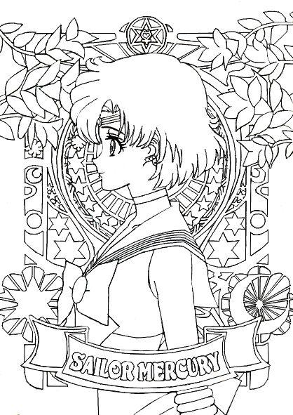 SMC Portraits - Sailor Mercury by MissLily1990 | Coloring Pages ...