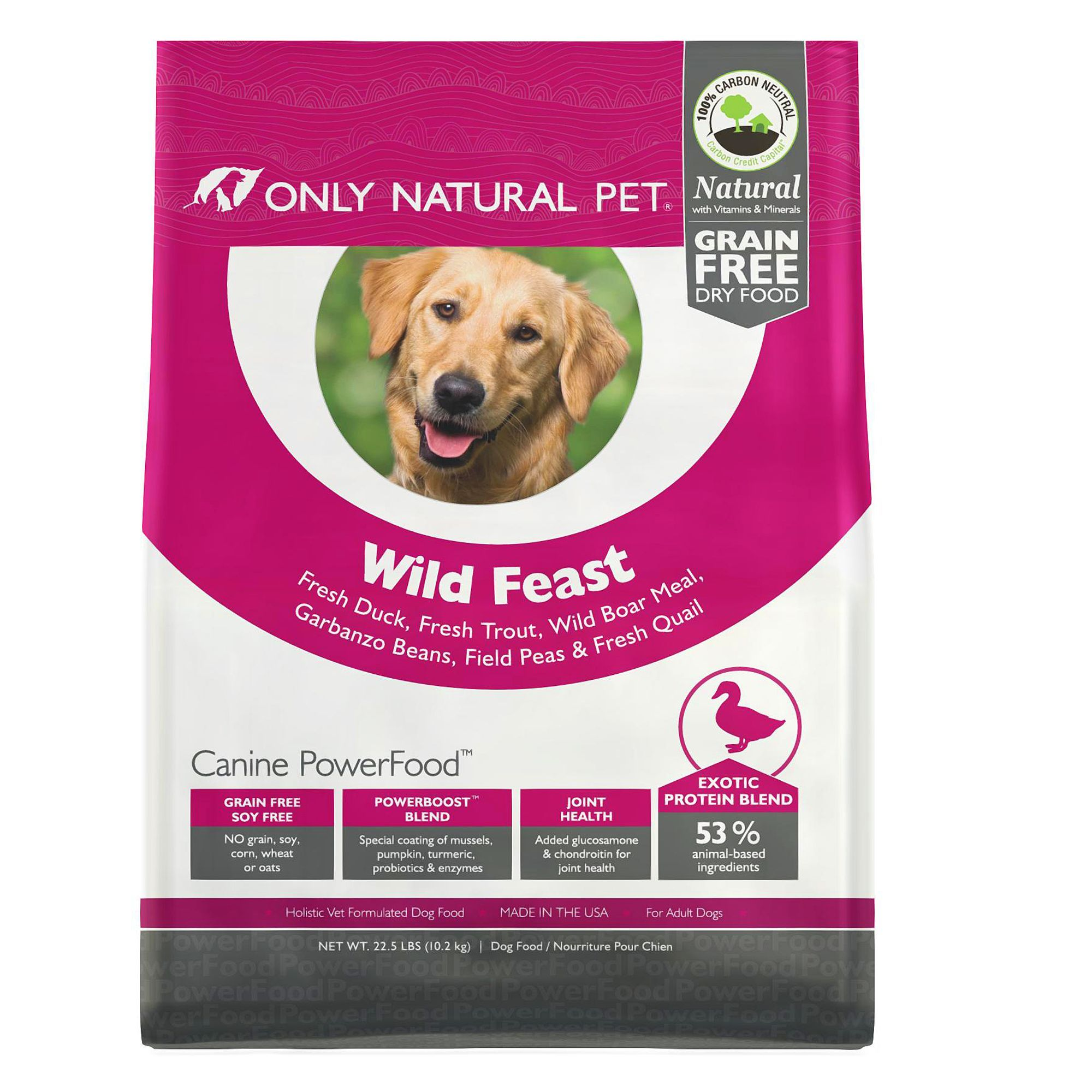 Only Natural Pet Canine Powerfood Wild Feast Dog Food Limited