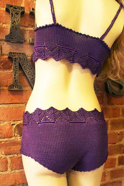 Lingerie knitting pattern