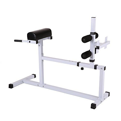 TOMSHOO Hyperextension Bench Adjustable MultiWorkout Abdominal Back  Exercise Hyper Extension Roman Bench Chair Home Workout Fitness