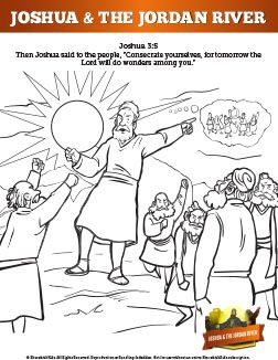 In This Lesson God Calls Joshua To Lead The Children Of Israel Into The Promised Sunday School Coloring Pages Bible School Crafts Bible Activities For Kids