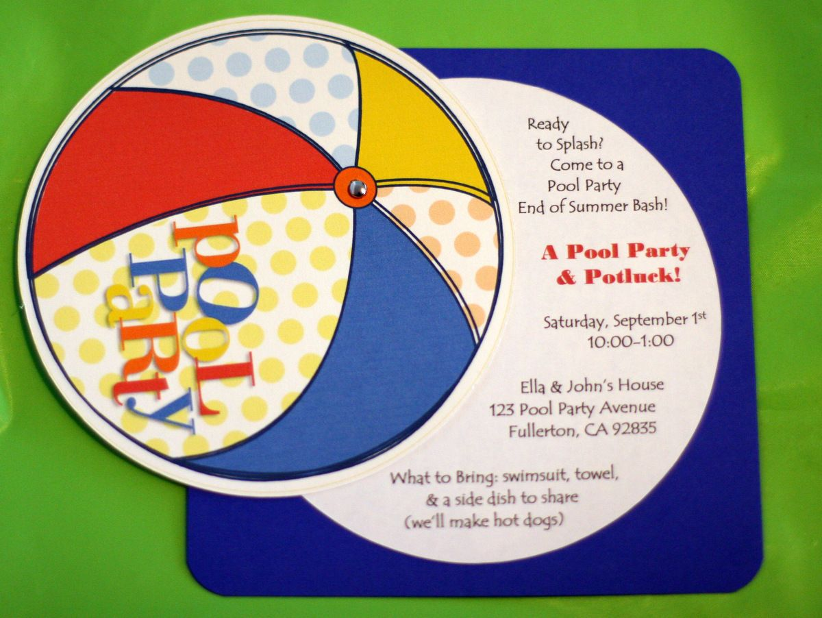 Pool party birthday ideas | Invite and Delight: Last Minute Pool ...
