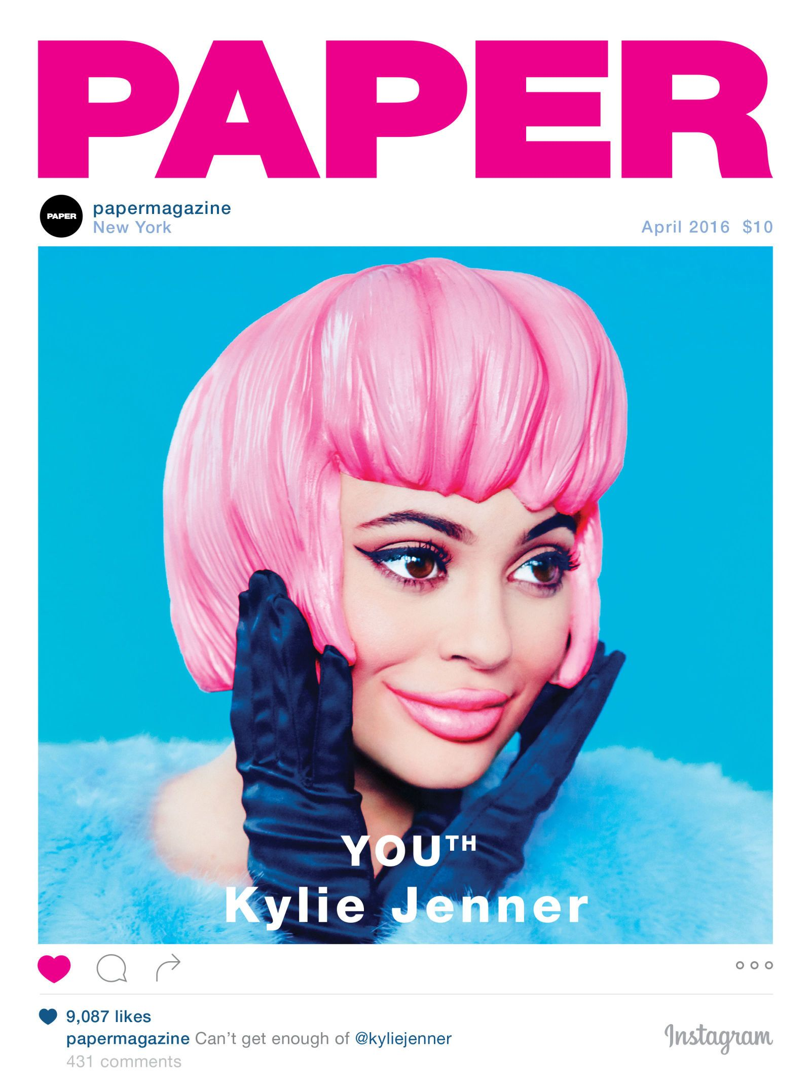 This Kylie Jenner \'Paper\' Magazine Cover Will Haunt You | Media ...