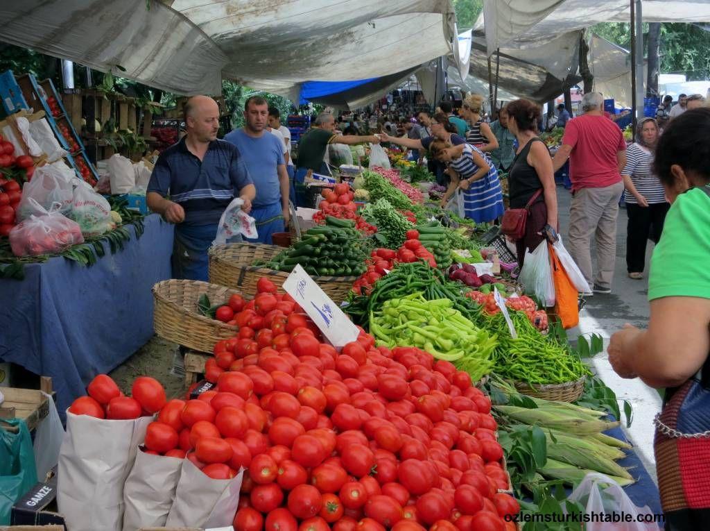 Bountiful Seasonal Produce At Besiktas Pazari Istanbul Istanbul