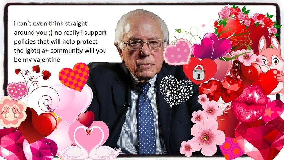 Bernie Valentine | Bernie Sanders Dank Memes | Pinterest | Bernie ...