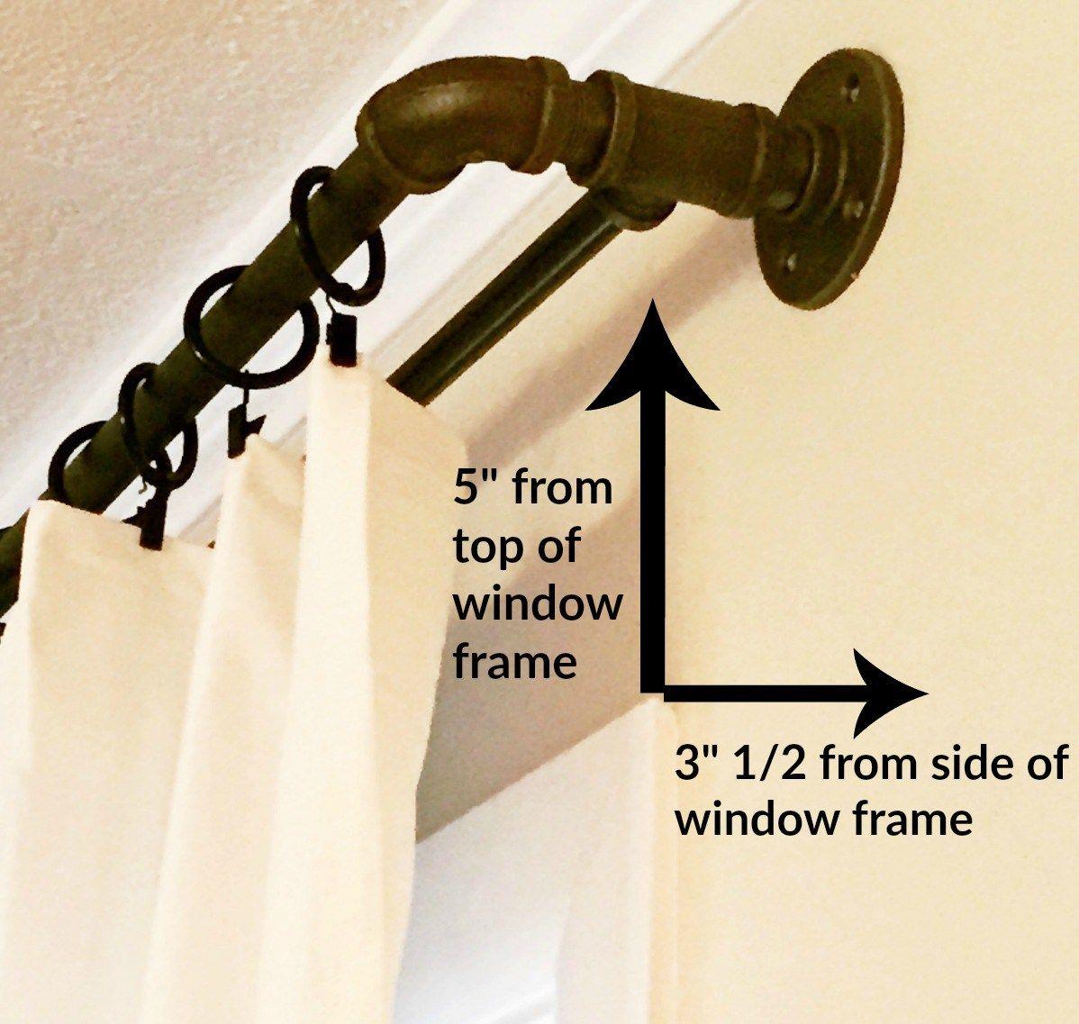 diy double industrial conduit curtain rod window house. Black Bedroom Furniture Sets. Home Design Ideas