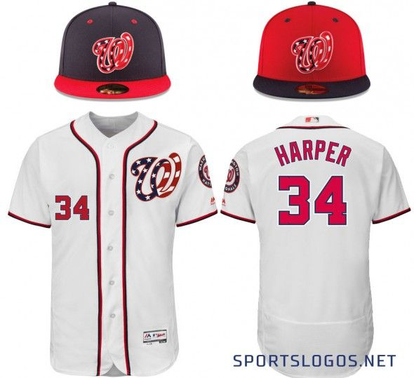 Washington Nationals New Uniform Cap Jersey 2017 Béisbol Reales 3da025d1f80