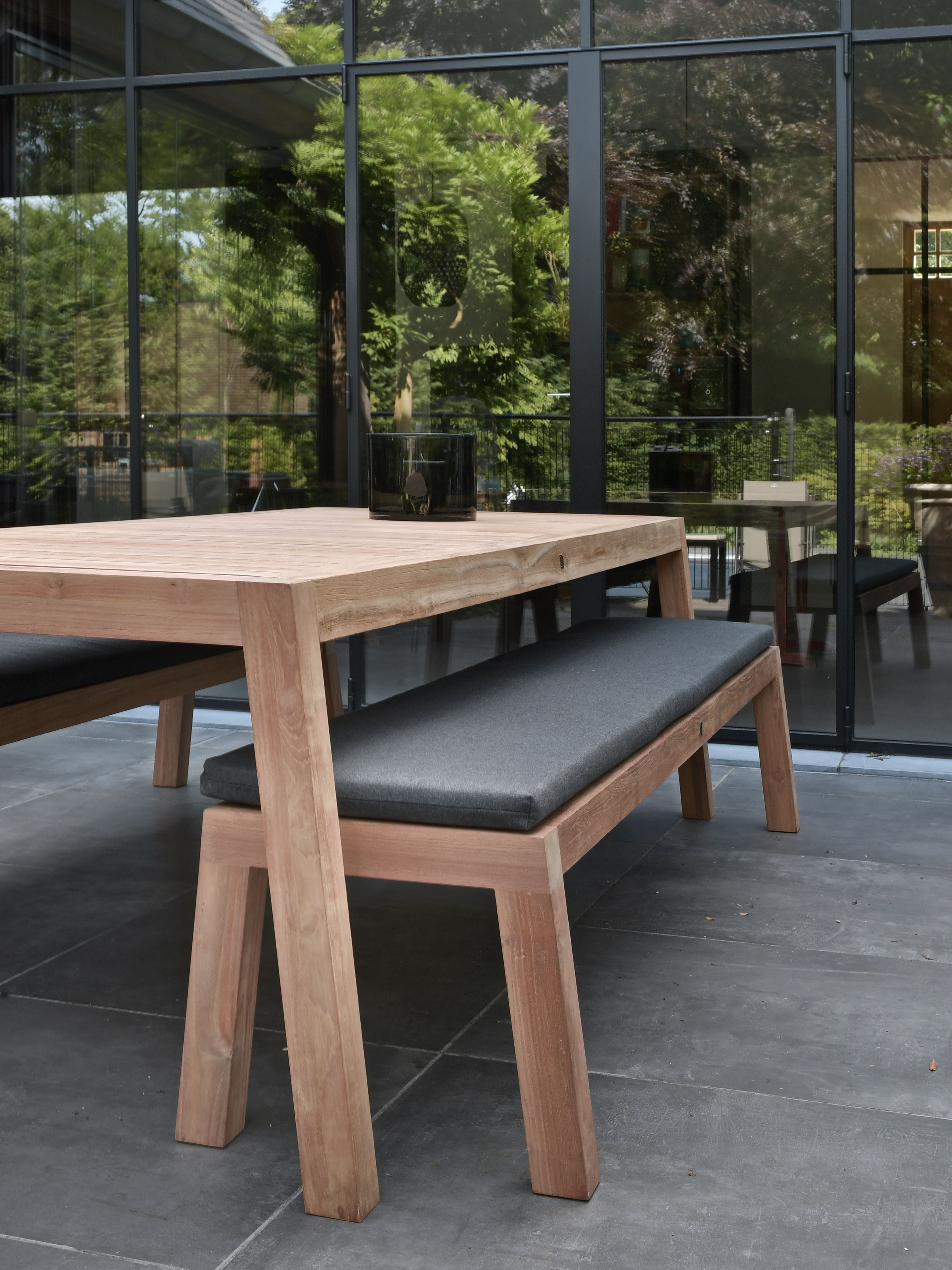 Tuintafel Met Bankje En 2 Stoelen.Alfa Low Dining Teak Tuinset 180 Table And Chair Diy In 2019