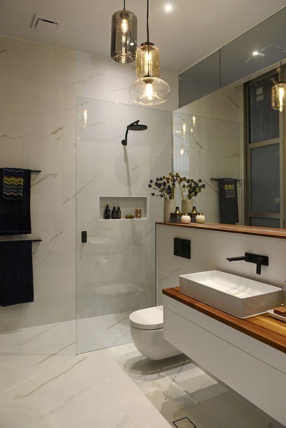 Awesome 27 creative modern bathroom lights ideas youll love awesome 27 creative modern bathroom lights ideas youll love aloadofball Images