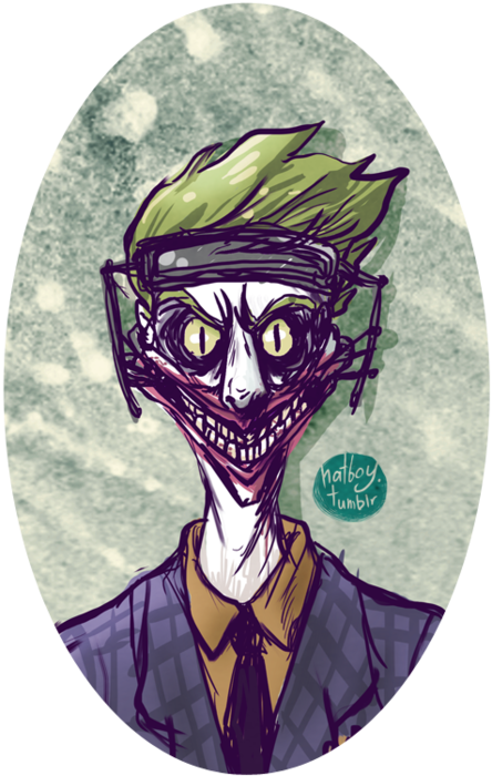 Close Up Of Joker S Face Of This Awfully Rough Drawing Which Amazingly Got Featured In Comics So Thanks So Much For The Love Tumb Joker Drawings Trendy Hat