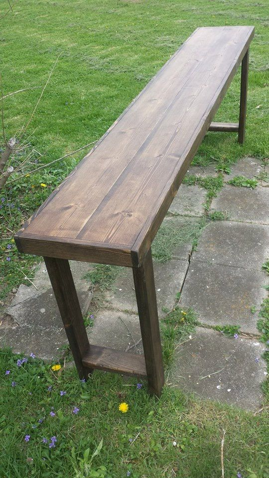 Rustic Bar Table Sofa Console Large Long Tall Entryway Entry Hall