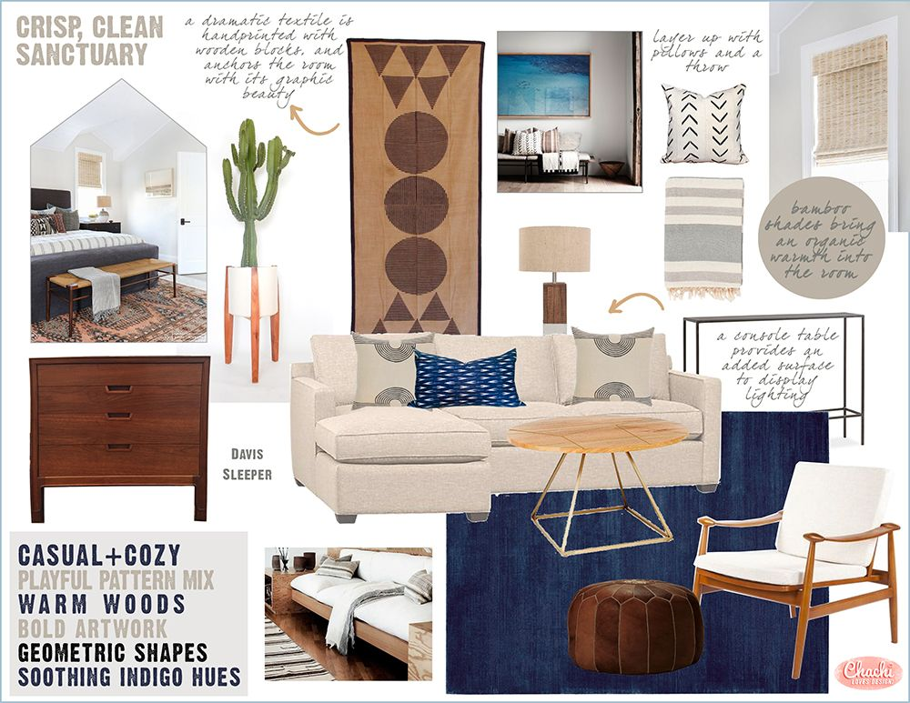 Guest Bedroom Design Concept By Chachi Loves Design | Los Angeles  California | Mood Board