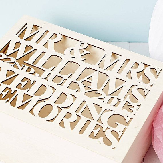 Our personalised Large wedding keepsake box is the perfect place to ...