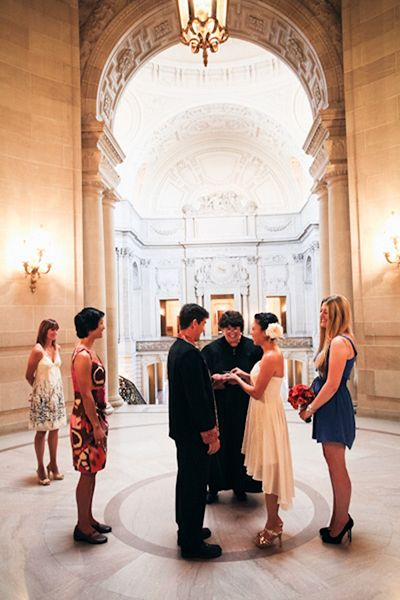 Real Wedding Emi And Jay S San Francisco Courthouse Ceremony