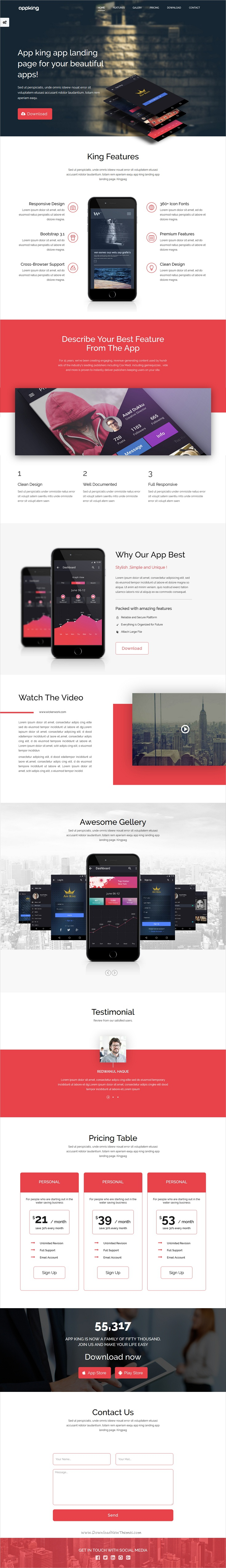 App king is a clean and modern design bootstrap template