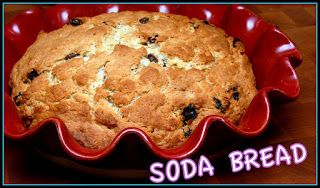 IN MIXER, BEAT:7 TABLESPOONS SOFT BUTTER2 1/2C. FLOUR1/2C. SUGAR1/2T. BAKING POWDER1/2TSP. BAKING SODA3/4TSP. SALT OPTIONAL-STIR IN 1/2C. RAISINS ADD:1 1/4C. BUTTERMILK1 EGGMIX UNTIL IT FORMS A DOUGH. SCRAPE INTO A GREASED DEEP DISH PIE PAN. BRUSH WITH 1 T. MELTED BUTTER AND BAKE 1 HOUR AND 15 MINUTES AT 350. COOL AND ENJOY!!!
