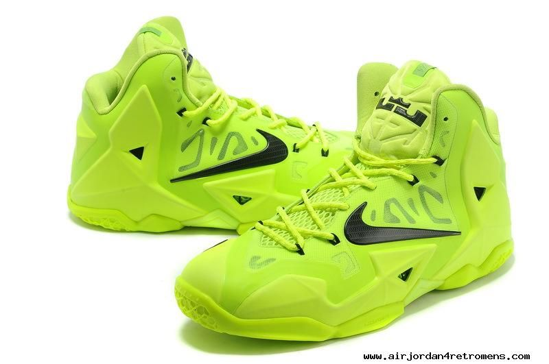 detailed look 11bf8 15d25 Lebron 11 Shoes Electric Green Black Volt 616175 302 For Wholesale