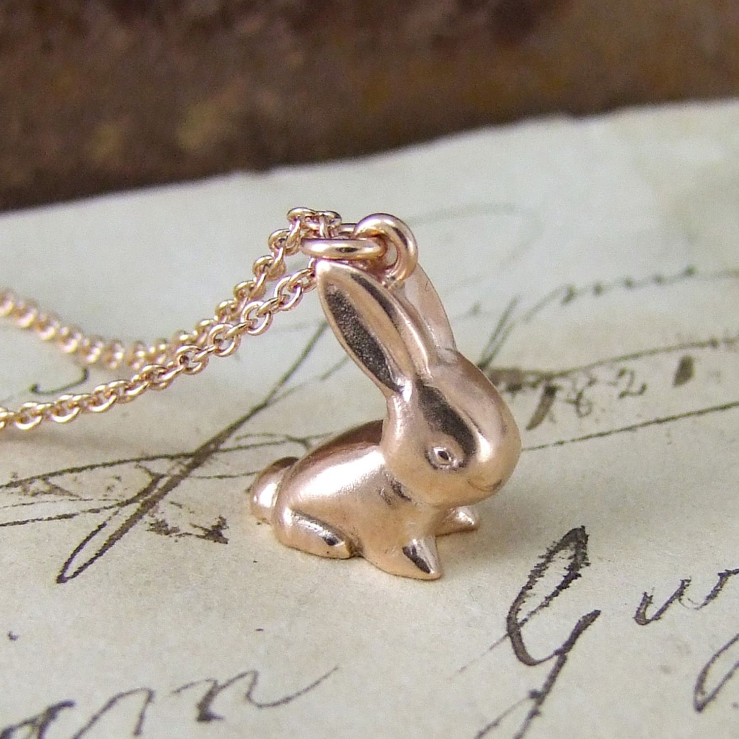 Vintage bunny pendant conejo pintowin one of our vintage bunny pendants personalised with your initial on the base aloadofball Images