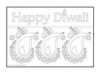 God pictures fireworks Diwali home decoration coloring sheets
