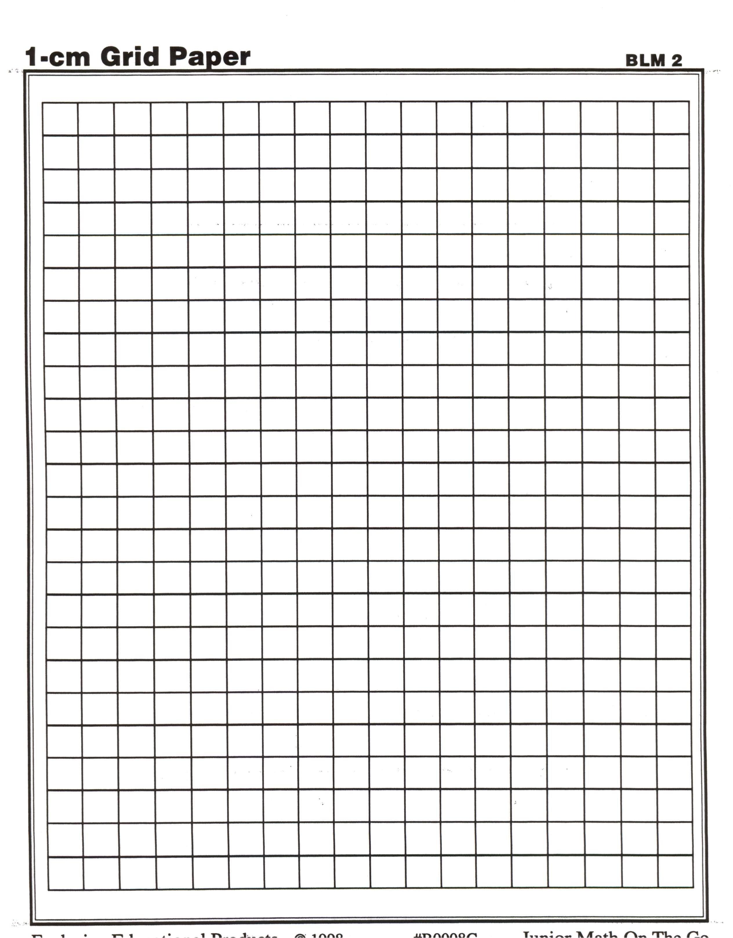 1 cm graph paper printables free