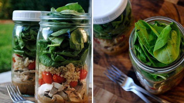 Salad in a Jar - keeps for days!