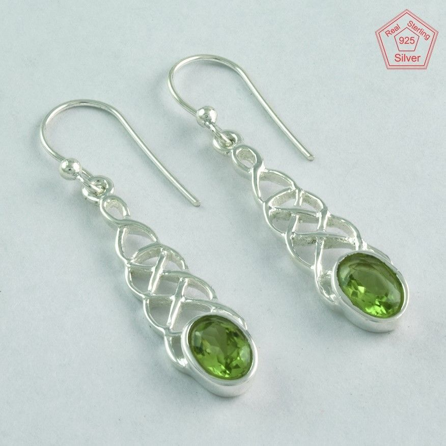 Silver Palace 925 Sterling Silver Handmade Smoky Quartz Earring for Womens and Girls