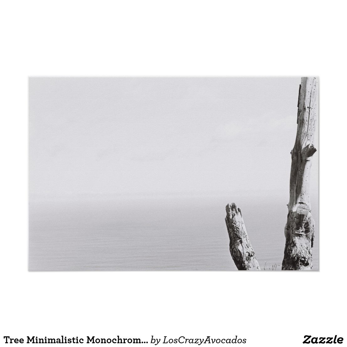 Tree Minimalistic Monochrome Kodak Film Poster | Zazzle com