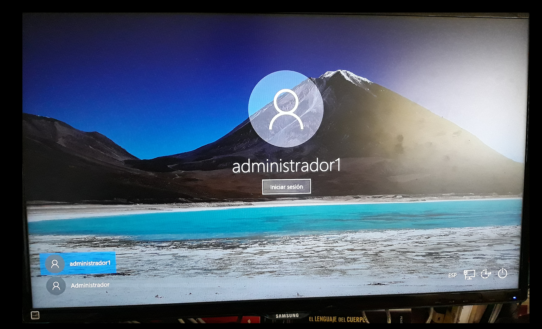 Inicio de sesión en Windows 10