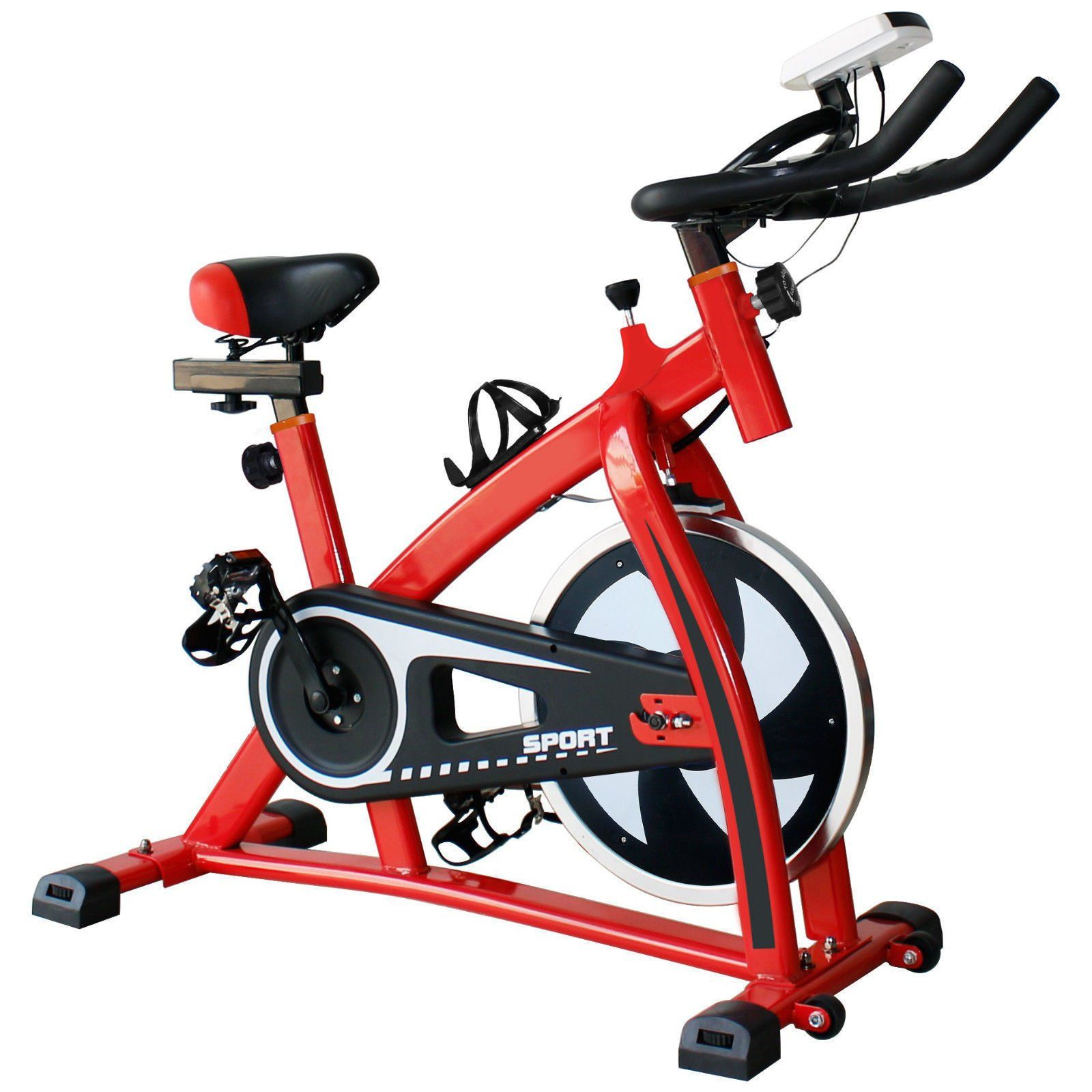 Nikkycozie Red Exercise Bike Gym Bicycle Fitness Cardio Workout