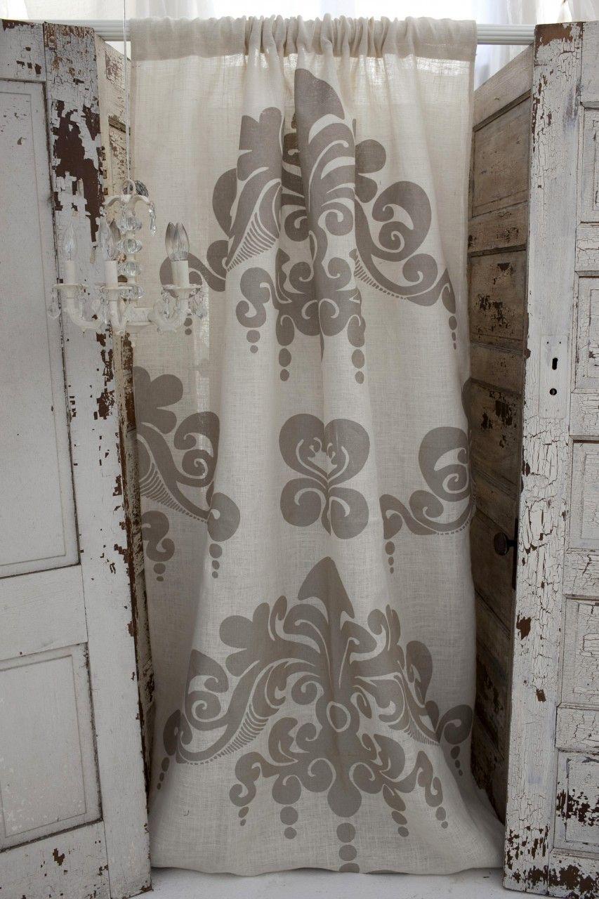 Couture Dreams Enchantique Ivory Jute Curtain Panel