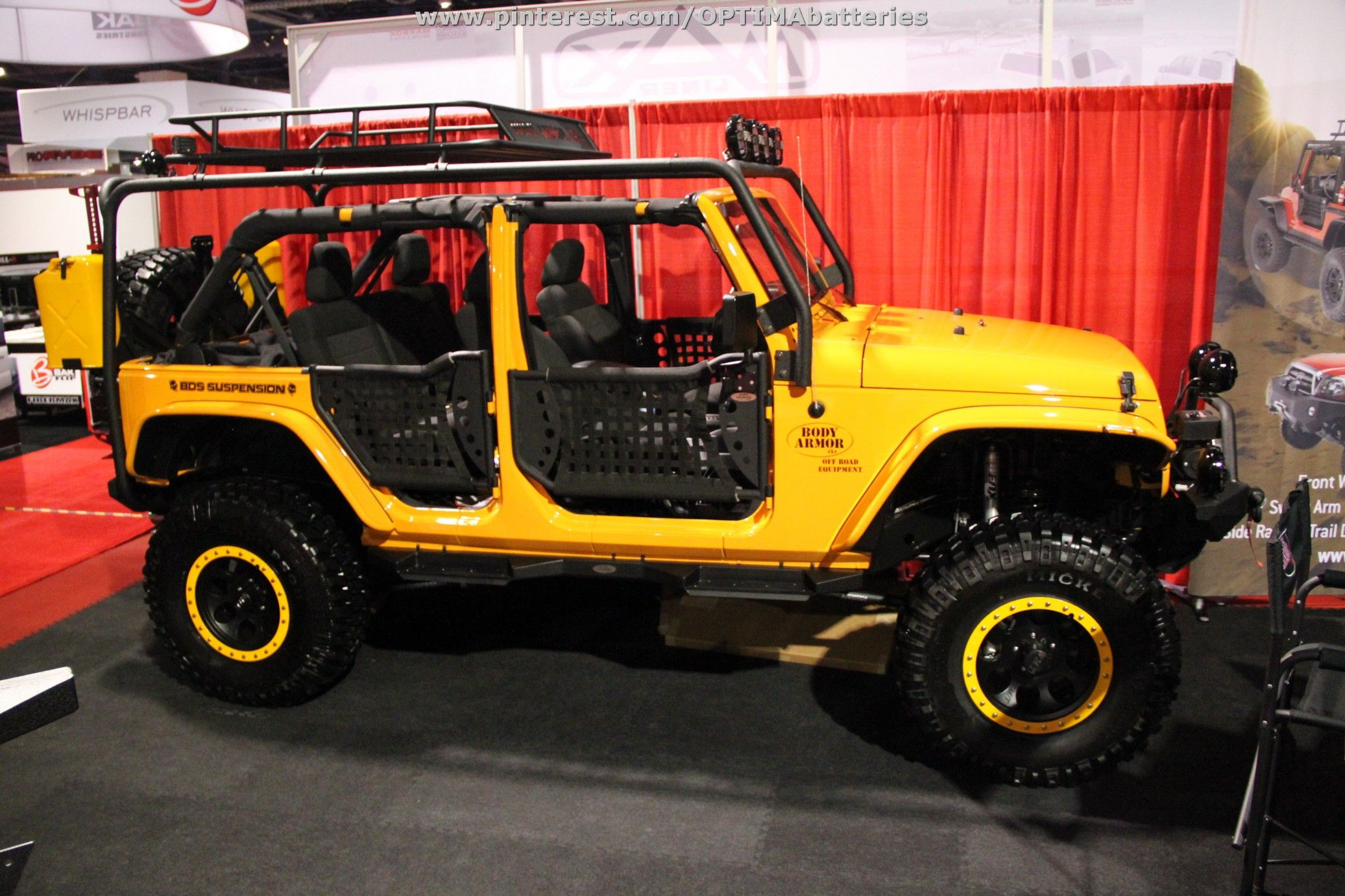 A #yellow #Jeep at #SEMA 2012 | Yellow jeep, Jeep wrangler ...