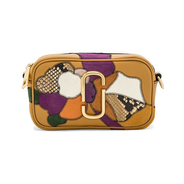 c7ec2d16df30 Marc Jacobs Patchwork Flowers Snapshot ( 495) ❤ liked on Polyvore featuring  bags
