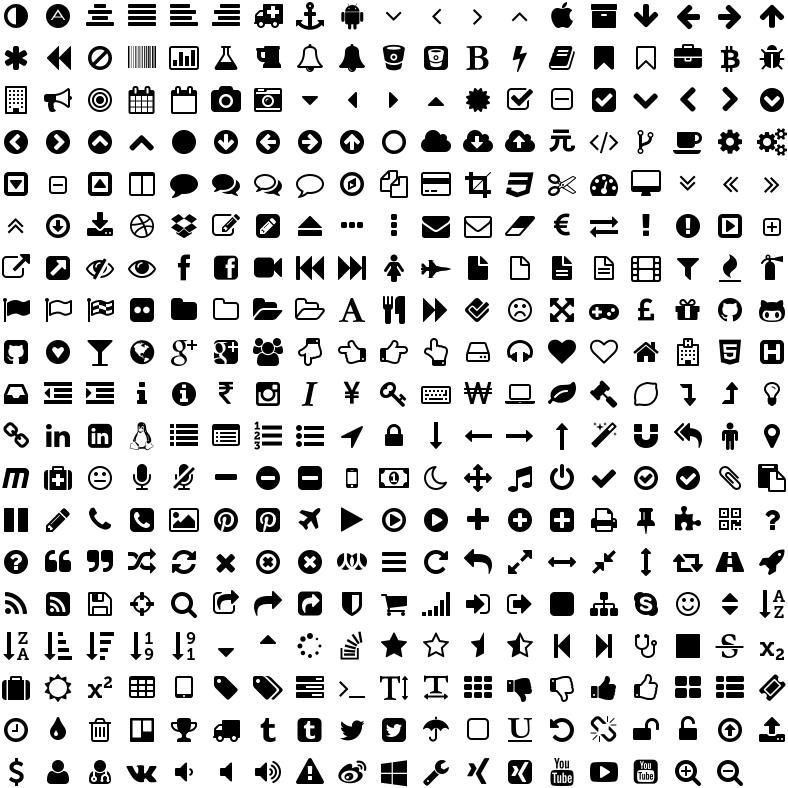 Font Awesome Icons Icon Fonts Free Icons