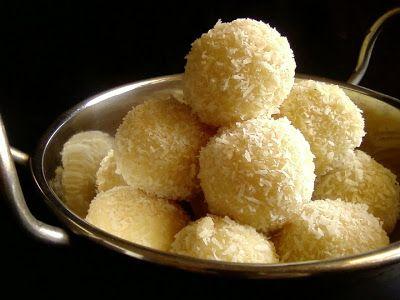 Coconut Ladoo Recipe With Condensed Milk Milkmaid Coconut Ladoo Recipe Food Coconut Ladoo Recipe Recipes