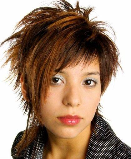 short spiky hair long bangs - google