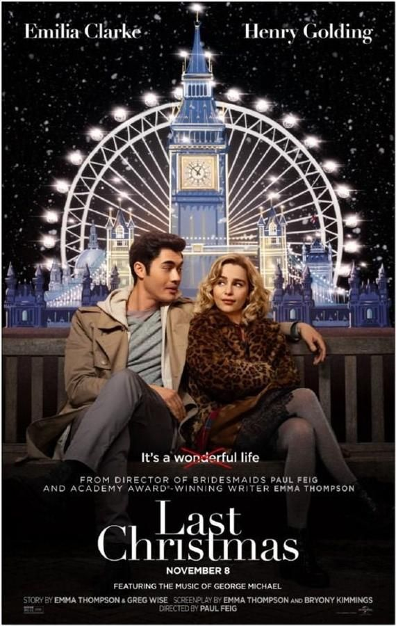 Last Christmas 2019 Original 2 Sided 27x40 Movie Poster