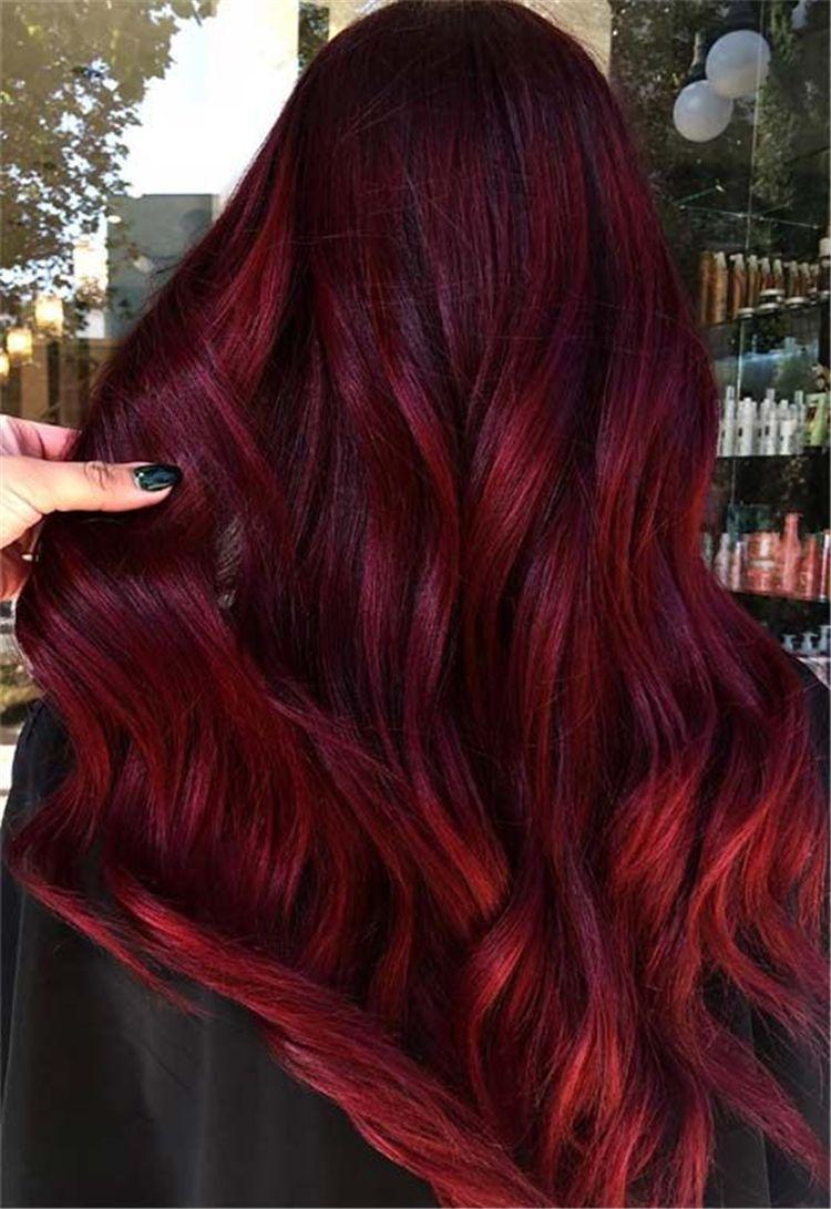 11 Burgundy Hair Color ideas In 11  Burgundy hair dye, Wine