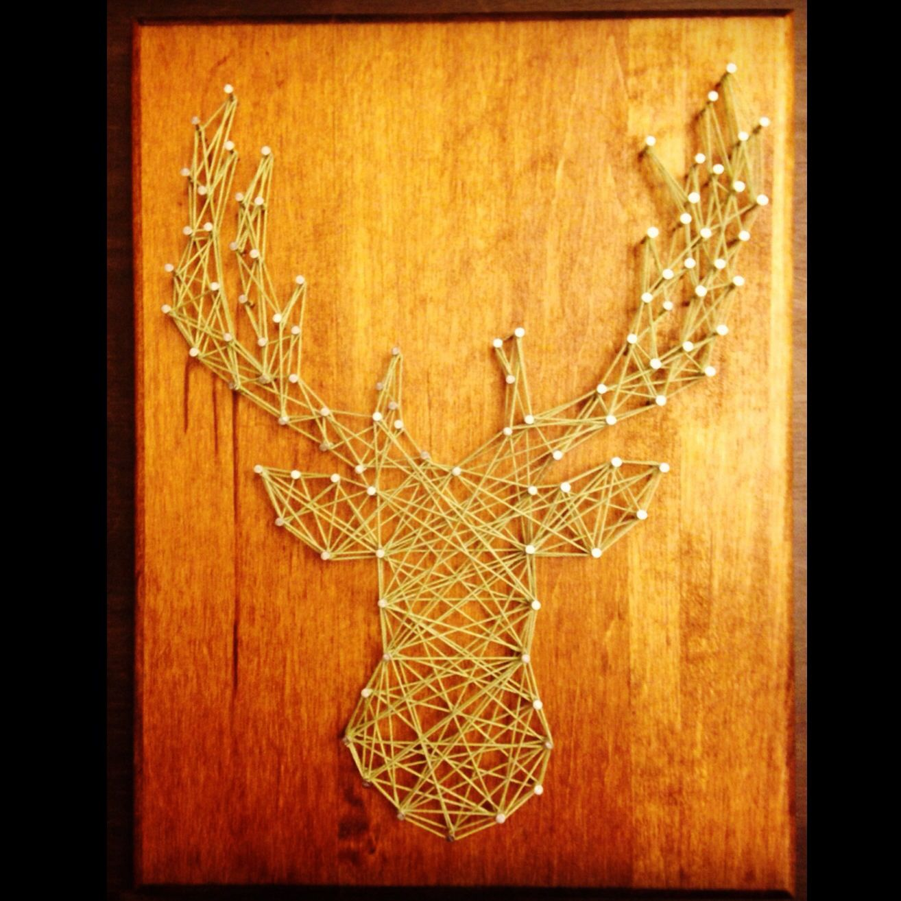 Deer head string art! My latest craft project! | My Craft life ...