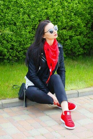Combinación Moda Con Pinterest Color Tenis Rojo xwF1xz