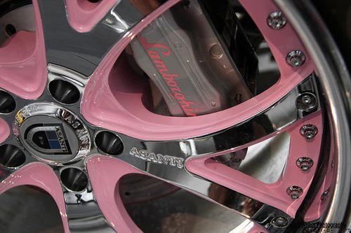 pink lambo rims