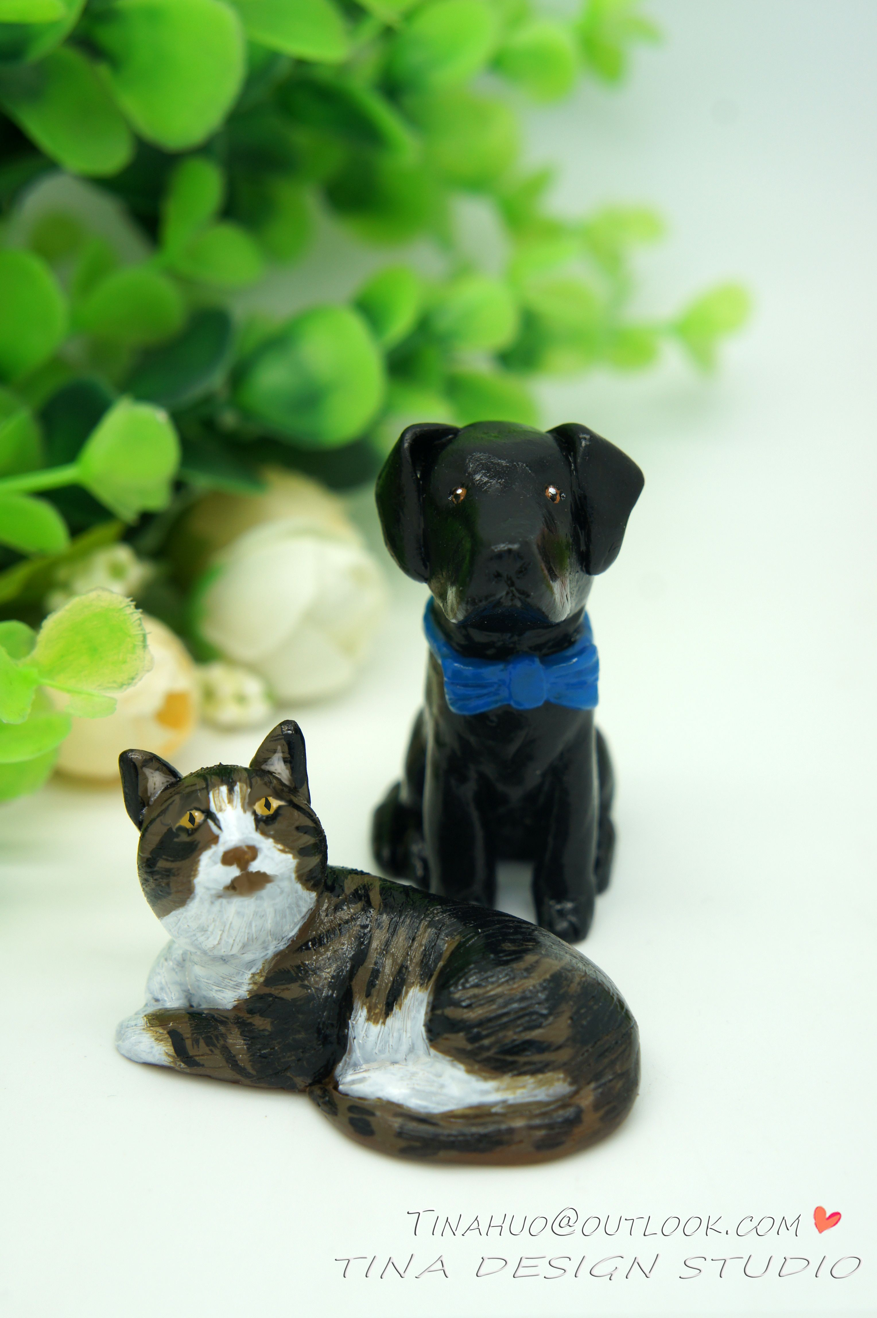 Dog Wedding Cake Toppers-Animal Wedding Cake Toppers-Pets Cake Toppers