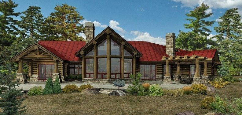 Kodiak Trail II   Log Homes, Cabins And Log Home Floor Plans   Wisconsin Log