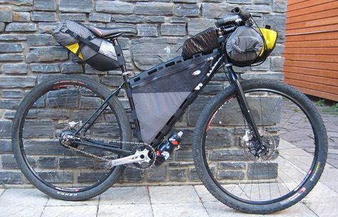 Bikecamping bike fully loaded for the road or trail. http://mtnweekly.com/sports/biking/bikepacking-what-you-need-to-know
