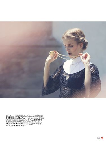 'Monastic Eroticism' Mirte Maas by David Bellemere for Vogue Turkey March 2013 [Editorial] - Fashion Copious