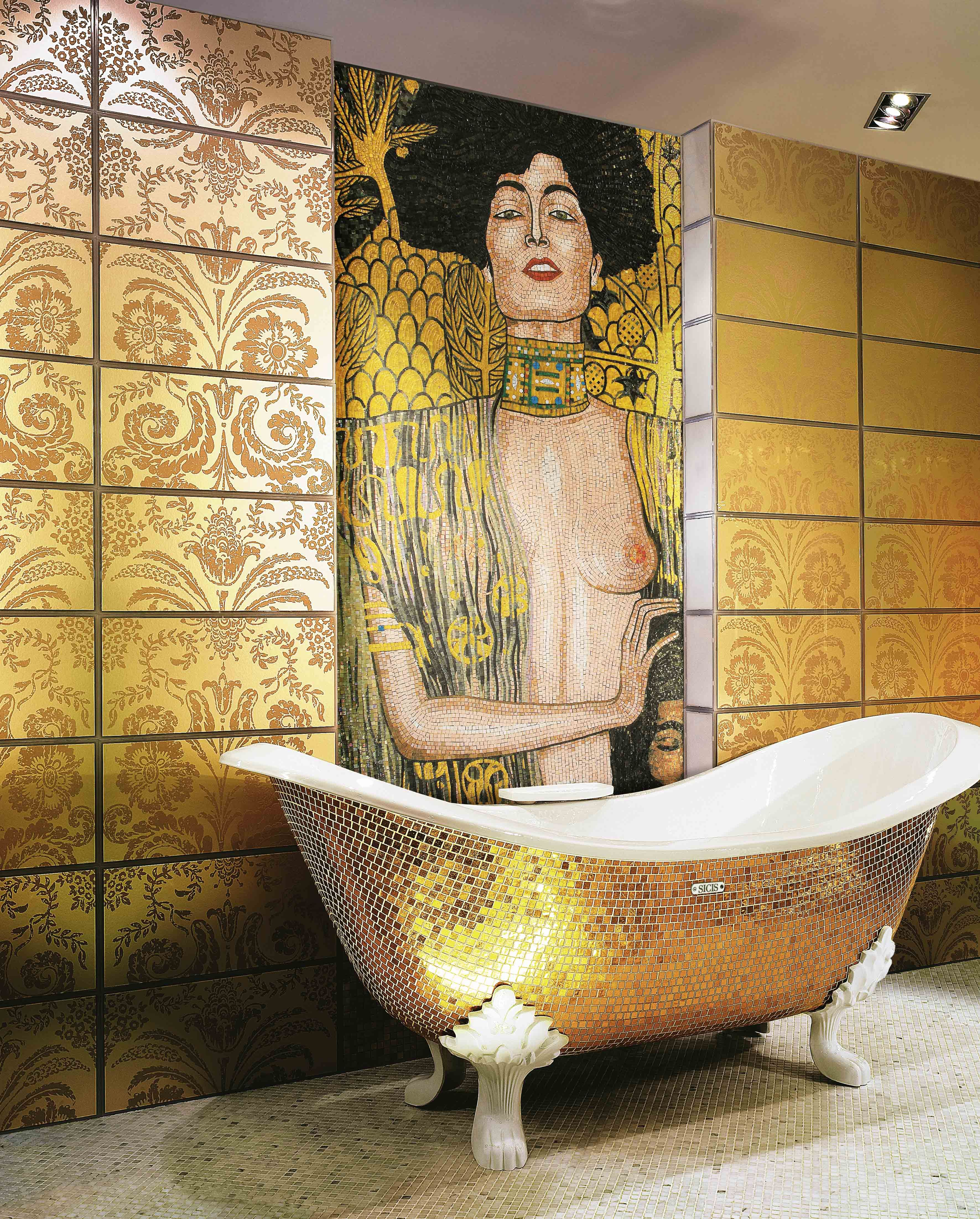 Miroir Salle De Bain Siehr ~ D Coration Int Rieure Salle De Bain Bathroom Gold Dor Or