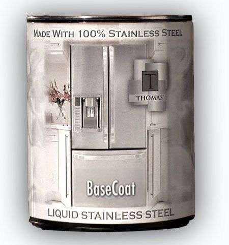 thomas liquid stainless steel paint now i can get my stainless steel counters for a fraction. Black Bedroom Furniture Sets. Home Design Ideas