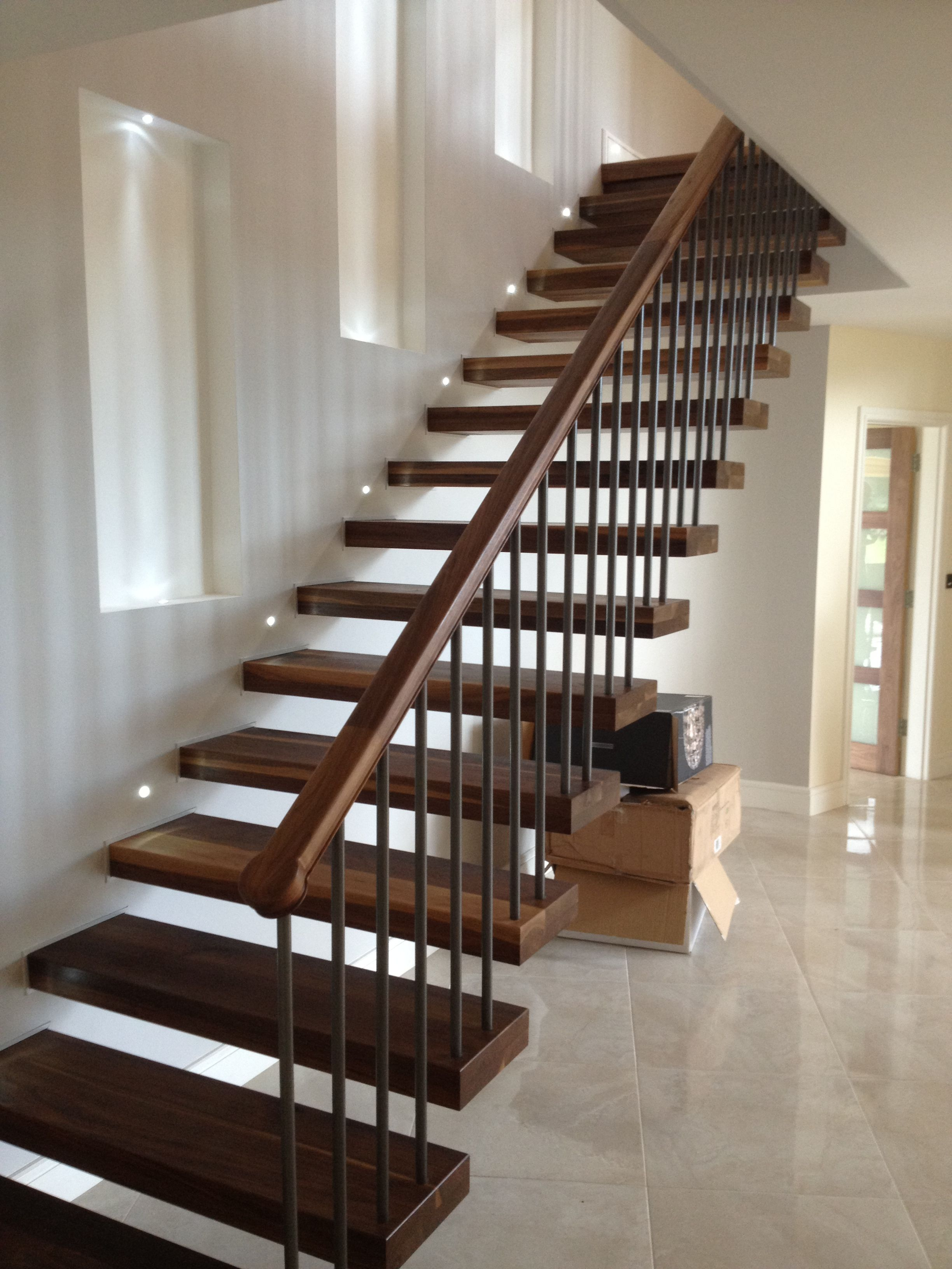 Best Pin By Victoria Francis On New Home Ideas In 2019 Stair Railing Design Floating Stairs 400 x 300