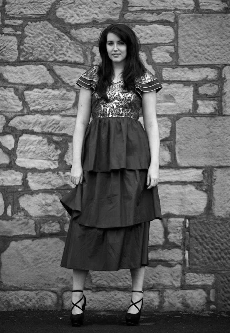 Black and white layered s prom dress fashion pinterest s