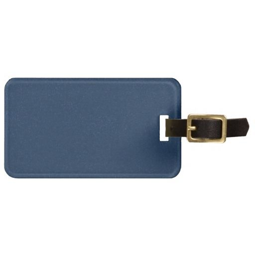 PANTONE Classic Blue with fine faux Glitter Tags For Luggage
